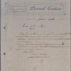 Cartas comerciales: PASCUAL TORTOSA. FÁBRICA DE CALZADO. ONIL. ALICANTE. ESPAÑA 1921. Lote 270394328