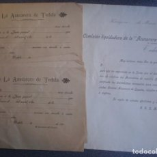 Cartas comerciales: TUDELA NAVARRA DOCUMENTOS AÑO 1905 LA AZUCARERA DE TUDELA. Lote 273930508