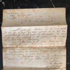 Cartas comerciales: CARTA FACTURA JOSÉ MANGRANÉ, REUS AÑO 1879. Lote 274866488