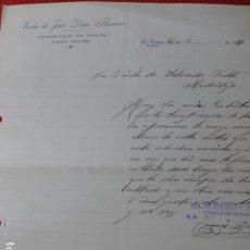 Cartas comerciales: LA SOLANA CIUDAD REAL VIUDA DE JOSE DIAZ RONCERO FABRICANTE DE HOCES PARA SEGAR CARTA COMERCIAL 1930. Lote 275900033