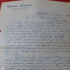 Lettere commerciali: SOCUELLAMOS CIUDAD REAL FONDA NUEVA DEL COMERCIO CARTA COMERCIAL 1930. Lote 275901278