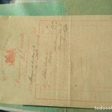 Lettere commerciali: PERFUMERÍA INGLESA. ROMERO Y VICENTE. 1886. FIRMA PROPIETARIO. MADRID.. Lote 276363198