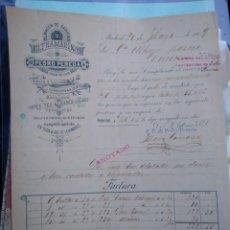 Cartas comerciales: ULTRAMARINOS PEDRO PEREDA. CONSERVAS QUESOS. VINOS LICORES. MADRID.. Lote 276370918