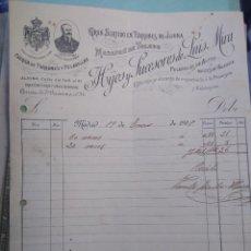 Lettere commerciali: HIJOS Y SUCESORES DE LUIS MIRA. TURRONES DE JIJONA. PELADILLAS ALCOY. FIRMA PROPIETARIO MADRID.. Lote 276375043