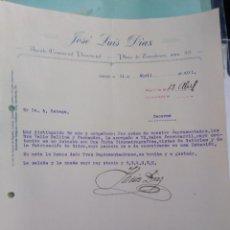 Cartas comerciales: JOSÉ LUIS DÍAZ AGENTE COMERCIAL 1931 . FIRMA PROPIETARIO. TOLEDO.. Lote 276381418