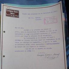 Cartas comerciales: ENRIQUE GINÉS SAINZ. PUENTE DEL ARZOBISPO. 1935 . FIRMA PROPIETARIO. TOLEDO.. Lote 276381853
