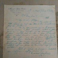 Lettere commerciali: MANUEL LÓPEZ GARCÍA. FABRICA DE SALAZÓN PUERTO DE FIGUERAS. ASTURIAS.. Lote 276692153