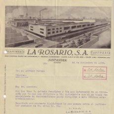 Lettere commerciali: LA ROSARIO SANTADER. PERFUMERIA.. Lote 276707508