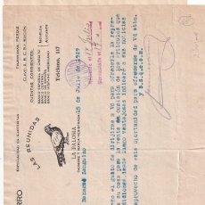 Cartas comerciales: LORENZO NAVARRO EXPORTACIÓN AZAFRANES. NOVELDA ALICANTE. 2 HOJAS. 1929. Lote 276711968