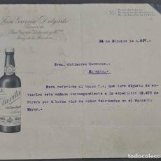 Lettere commerciali: JOSÉ GARCÍA DELGADO. SUC. DE JOSÉ GARCÍA DELGADO Y HERMANOS. JEREZ. ESPAÑA 1927. Lote 277192383