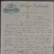 Lettres commerciales: DIEGO CALVACHE. REPRODUCCIONES Y MINIATURAS. JEREZ. ESPAÑA 1901. Lote 277192743