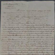 Cartas comerciales: A. G. MANRIQUE DE LARA. BUENOS AIRES. ARGENTINA 1898. Lote 277194858