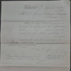 Cartas comerciales: FERRÉS Y CÍA. VALLADOLID. ESPAÑA 1909. Lote 277196038