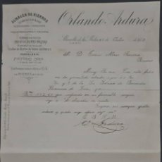 Cartas comerciales: ORLANDO ARDURA. ALMACÉN DE HIERROS. HERRAMIENTAS Y FERRETERÍA. LEÓN. ESPAÑA 1905. Lote 277197813