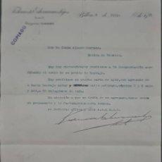 Cartas comerciales: FEDERICO DE ECHEVARRÍA É HIJOS. S. EN C. FABRICANTES DE HERRADURAS Y CLAVOS. BILBAO. ESPAÑA 1913. Lote 277202198