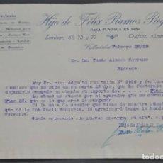 Cartas comerciales: HIJO DE FÉLIX R. REGADERA. FERRETERÍA. VALLADOLID. ESPAÑA 1929. Lote 277202798
