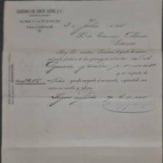 Cartas comerciales: SOBRINOS DE JORGE SÁENZ Y Cª. ALMACENES POR MAYOR DE QUINCALLA Y FERRETERÍA. VALLADOLID. ESPAÑA 1905. Lote 277202888