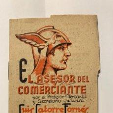 Cartas comerciales: EL ASESOR DEL COMERCIANTE. Lote 277235418