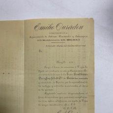 Cartas comerciales: CIRCULAR. EMILIO OURADOU. BILBAO, 1887. VER FOTOS. Lote 278179083