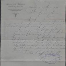 Cartas comerciales: FRANCÍSCO Mª VILLANUEVA. ALMACÉN DE HIERROS, COBRES Y FERRETERÍA. VALLADOLID. ESPAÑA 1911. Lote 278641538