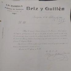 Cartas comerciales: LA ESTRELLA FÁBRICA DE GALLETAS RAMÓN Y CAJAL DE ZARAGOZA BRIT Y GUILLÉN. Lote 278675848