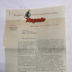 Cartas comerciales: CARTA COMERCIAL. ROGADO. BARCELONA, 1957. CON 2 TARJETAS PUBLICITARIAS DE LA EMPRESA. VER FOTOS. Lote 278703088