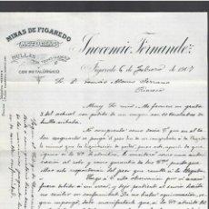 Lettere commerciali: CARTA COMERCIAL. MINAS DE FIGAREDO. ASTURIAS. HULLAS. INOCENCIO FERNANDEZ. 1907.. Lote 284837213