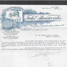 Lettere commerciali: CARTA COMERCIAL. FIDEL BENAVIDES. DESCUSCUTADORA DE ALFALFA. 1929. VALLADOLID.. Lote 284838758
