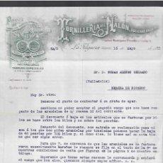 Lettere commerciali: CARTA COMERCIAL. TORNILLERÍA DEL NALÓN. LA FELGUERA, ASTURIAS. 1911.. Lote 284838918
