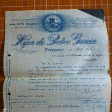 Lettere commerciali: ESPINARDO MURCIA FABRICA DE PIMENTON HIJOS DE PEDRO GARCIA. FACTURA 1923. Lote 287601888