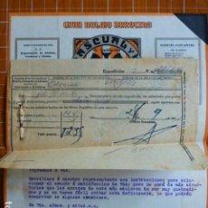 Cartas comerciales: ALGEMESI VALENCIA GRAN MOLINO ARROCERO LO RAT PENAT PASCUAL Y HNO. CARTA COMERCIAL Y FACTURA 1931. Lote 287602158