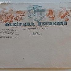 Cartas comerciales: OLEIFERA REUSENSE ACEITES Y ALMENDRAS Y AVELLANAS DE REUS. Lote 287947433
