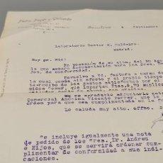 Cartas comerciales: CARTA COMERCIAL AL LABORATORIO DOCTOR CALDEIRO AÑO 1928. Lote 289327858
