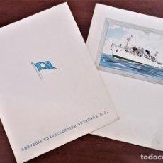 Cartas comerciales: 2 DÍPTICOS COMPAÑÍA TRASATLÁNTICA ESPAÑOLA. Lote 292059248