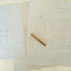 Cartas comerciales: LOTE 4 CARTAS. COMERCIANTE FEDERICO CERDÁ. COMERCIO DE JABONCILLO (SOSA/BARRILLA). VERA ALMERIA 1858. Lote 293792828