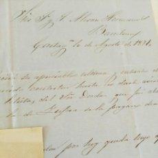 Cartas comerciales: LOTE 2 CARTAS. ANTONIO GOMEZ CERVANTES. LETRAS DE LOS SRS DORDA Y YÚFERA. CARTAGENA (MURCIA) 1871. Lote 293804253