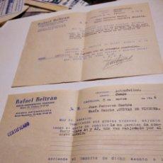 Cartas comerciales: RAFAEL BELTRÁN, ESCUELA AUTOMOVILISTICA CASTELLÓN 1966. Lote 293839453