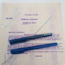 Cartas comerciales: MALAGÓN, CIUDAD REAL. COOPERATIVA SOCIALISTA, CARTA COMERCIAL DIRIGIDA DE VALENCIA, 1938. Lote 295791343