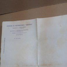 Cartas comerciales: NOTA ACADEMIA SANTAPAU EN VALENCIA. AÑO APRX 1936. Lote 295911038