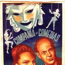Carteles Espectáculos: CARTEL COMPAÑIA DE COMEDIAS TEATRO MARTI-PIERA. Lote 23700842