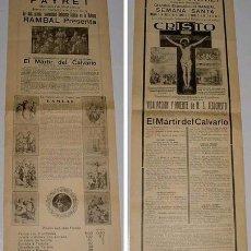 Carteles Espectáculos: ANTIGUO CARTEL DE TEATRO DE LA COMPAÑIA DE RAMBAL EN EL TEATRO PAYRET DE LA HABANA (CUBA) 1930. Lote 27136227