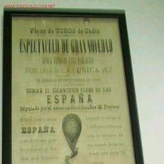 Carteles Espectáculos: CARTEL DE ESPECTACULO EN LA PLAZA DE TORO DE CÁDIZ EL DOMINGO 23 DE DICIEMBRE DE 1900. Lote 14334034