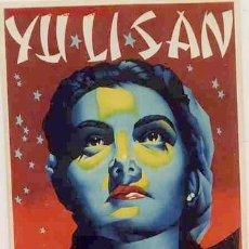 Carteles Espectáculos: CARTEL YULISAN YU LI SAN MEDIUM DEL PROFESOR ALBA , ORIGINAL , RB. Lote 262595025