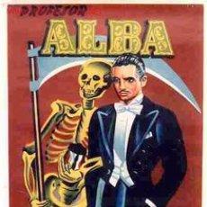 Carteles Espectáculos: CARTEL PROFESOR ALBA PEQUEÑO MAGIA , ORIGINAL , AÑO 1959 , RB. Lote 101119808