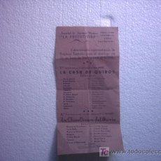 Carteles Espectáculos: FOLLETO PUBLICIDAD LA PROTECTORA (TEATRO). Lote 26402061