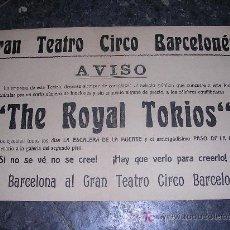 Carteles Espectáculos: CARTEL, GRAN TEATRO CIRCO BARCELONES 1910 APROX. Lote 9690866