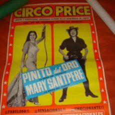 Carteles Espectáculos: CARTEL DEL CIRCO PRICE SITO EN LA PLAZA DEL REY MADRID AÑO 1970. Lote 26356483
