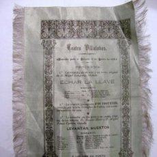 Carteles Espectáculos: CARTEL DE TEATRO AÑO 1895 FUNCION DE ECHEGARAY. Lote 27564208