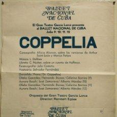 Carteles Espectáculos: CARTEL LITOGRAFICO.BALLET NACIONAL DE CUBA.COREOGRAFIA ALICIA ALONSO,1ª BAILARINA. 61CM X 49CM.. Lote 202825753