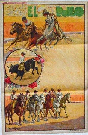 CARTEL ESPECTACULAR EL RODEO MODELO 2 AÑOS 30 , RB (Coleccionismo - Carteles Gran Formato - Carteles Circo, Magia y Espectáculos)